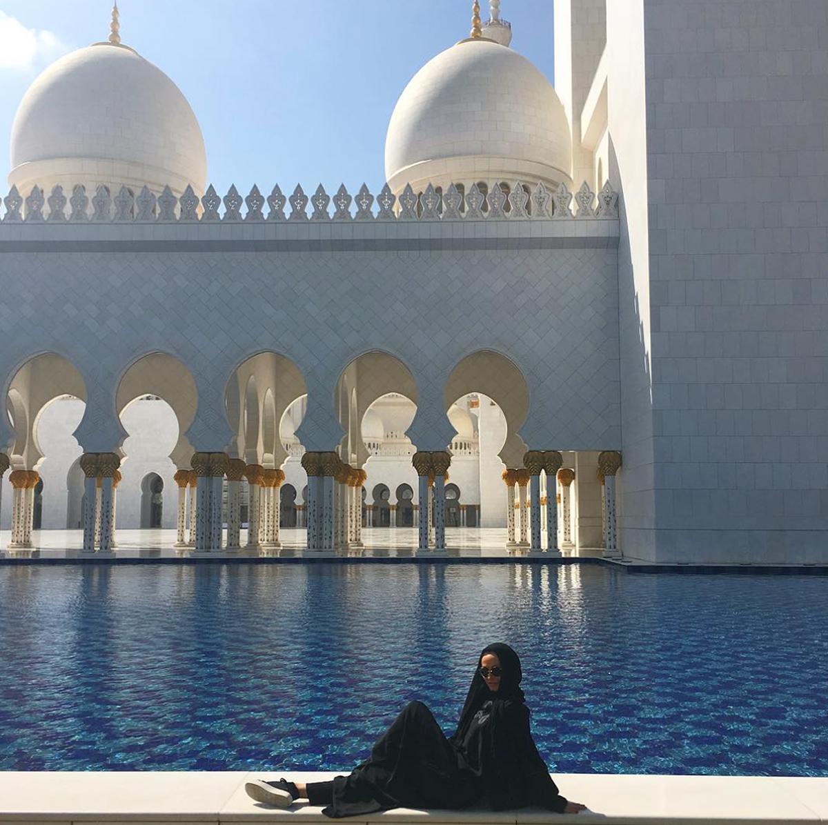 Sheikh Zayed Mosque 20170207 Karina Smirnoff Instagram Map